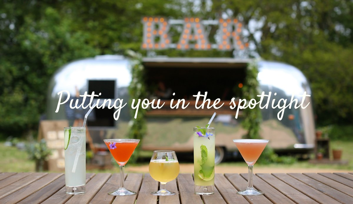 The Buffalo glamorous Airstream bar, available for dry hire