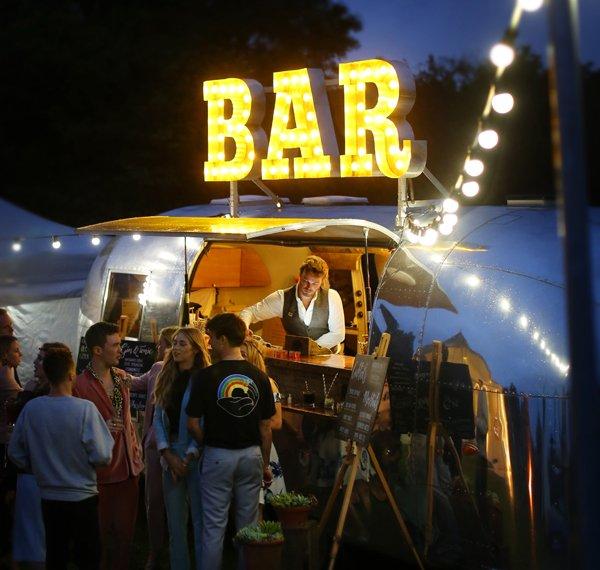 Beautiful bar at festival