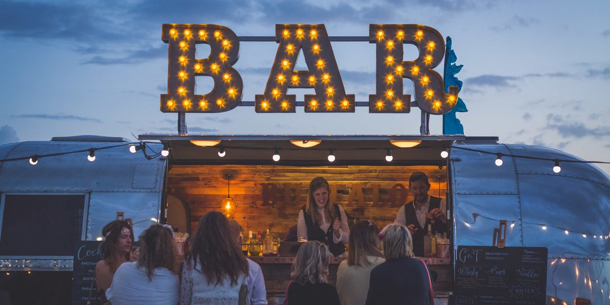 Dry Hire Airstream Mobile Bar for Brand Promotion