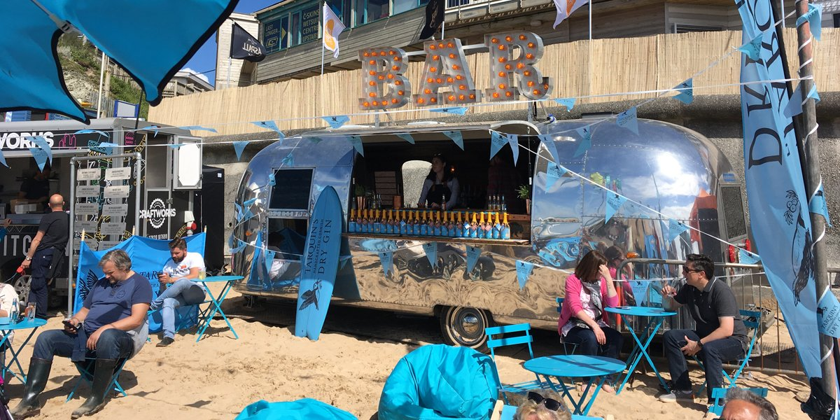 Original Dry Hire Airstream Mobile Bar for Brand Promotion