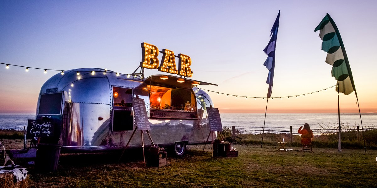 Dry Hire Airstream Mobile Bar for Brand Promotion Opportunity